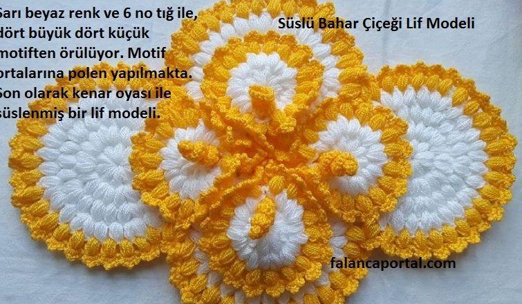 Süslü Bahar Çiçeği Lif Modeli 1