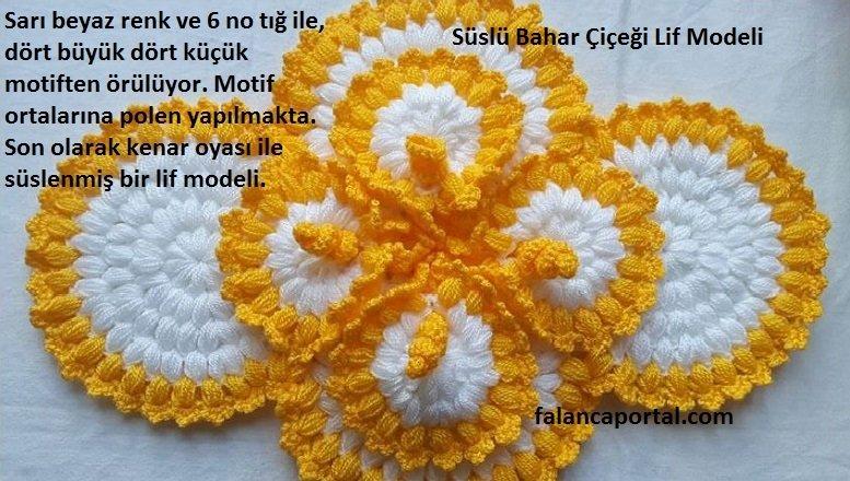 Süslü Bahar Çiçeği Lif Modeli