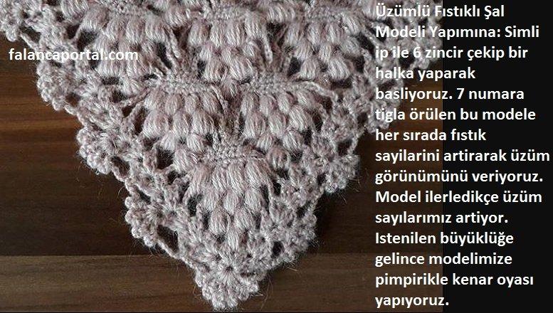 Üzümlü Fıstıklı Şal Modeli Yapımı