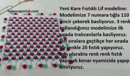 Yeni Kare Fıstıklı Lif Modeli 1