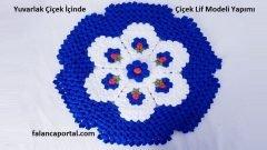 Yuvarlak Çiçek İçinde Çiçek Lif Modeli