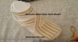 Boncuklu Babet Gelin Patik Modeli 1