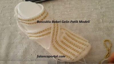 Boncuklu Babet Gelin Patik Modeli