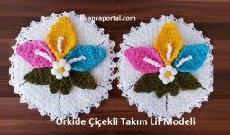 Orkide Çiçekli Takım Lif Modeli 1