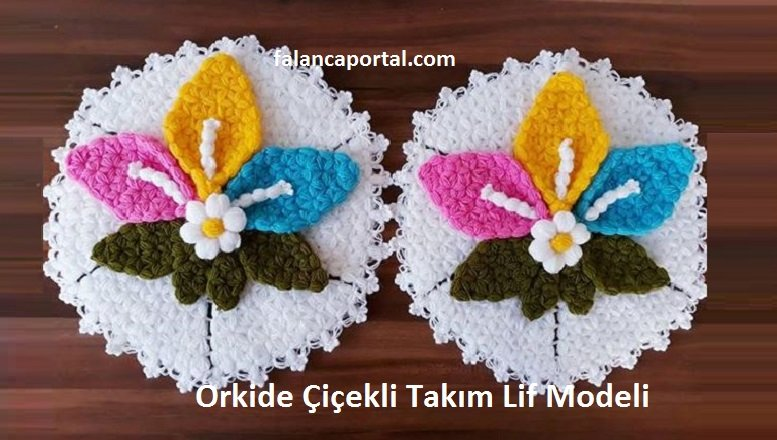 Orkide Çiçekli Takım Lif Modeli
