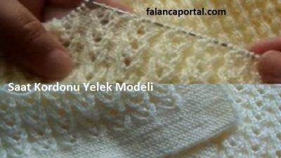 Saat Kordonu Yelek Modeli Türkçe