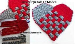 Hasir Orgu Kalp Lif Modeli 1