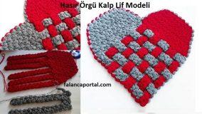 Hasır Örgü Kalp Lif Modeli