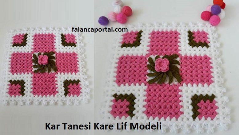Kar Tanesi Kare Lif Modeli