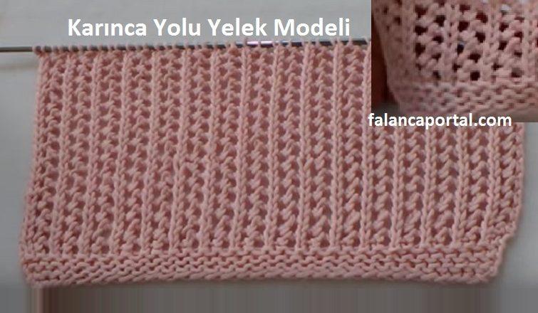 Karinca Yolu Yelek Modeli 1