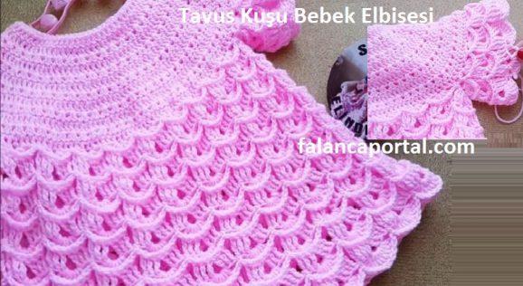 Tavus Kuşu Bebek Elbisesi 1