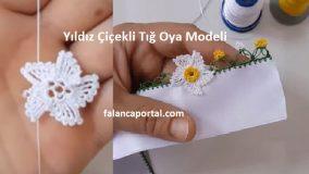 Yıldız Çiçekli Tığ Oya Modeli