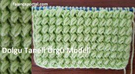 Dolgu Taneli Örgü Modeli 1