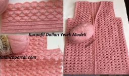 Karanfil Dallar Yelek Modeli 1