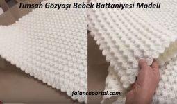 Timsah Gözyaşı Bebek Battaniyesi Modeli 1