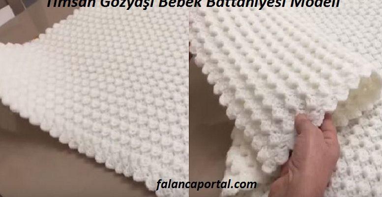 Timsah Gozyasi Bebek Battaniyesi Modeli 1