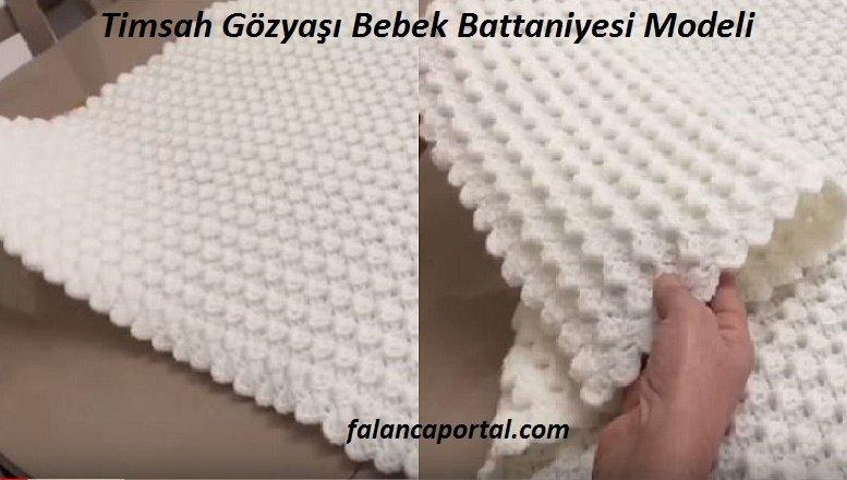Timsah Gözyaşı Bebek Battaniyesi Modeli