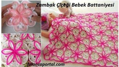Zambak Çiçeği Bebek Battaniyesi