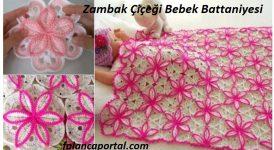 Zambak Çiçeği Bebek Battaniyesi 1