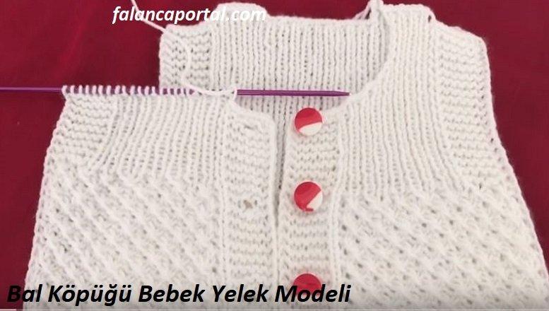 Bal Köpüğü Bebek Yelek Modeli