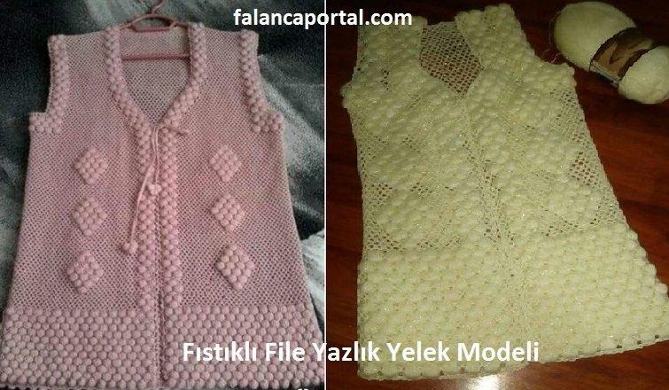 Fistikli File Yazlik Yelek Modeli 1