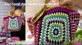Her Tarafı Ayrı Renkli Çanta Modeli 1