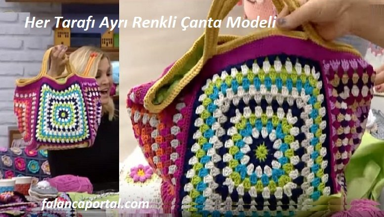 Her Tarafı Ayrı Renkli Çanta Modeli