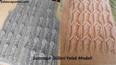 Sarmaşık Gülleri Yelek Modeli