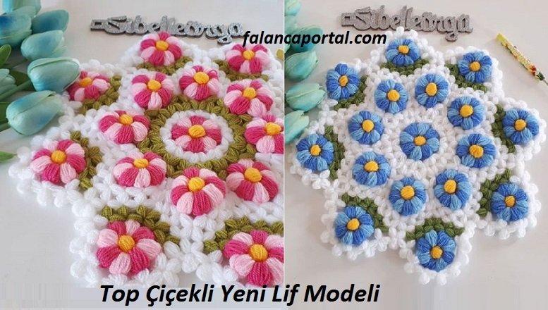 Top Çiçekli Yeni Lif Modeli