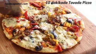 10 Dakikada Tavada Pizza Tarifi