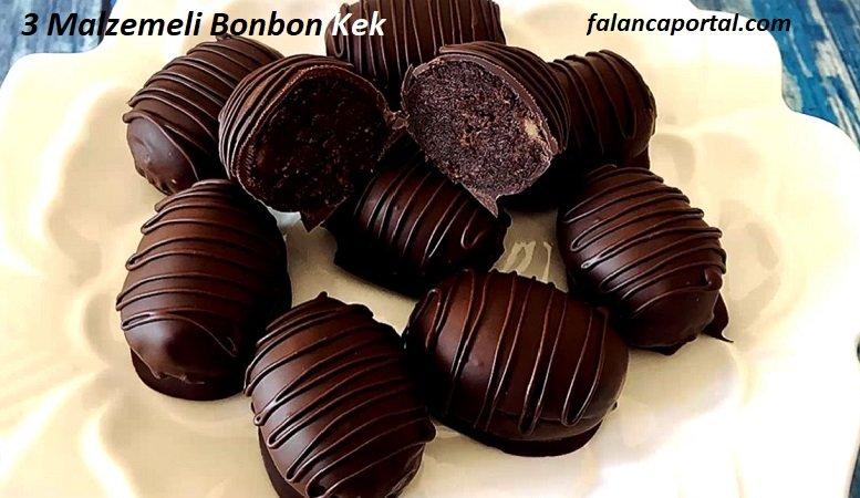 3 Malzemeli Bonbon Kek 1