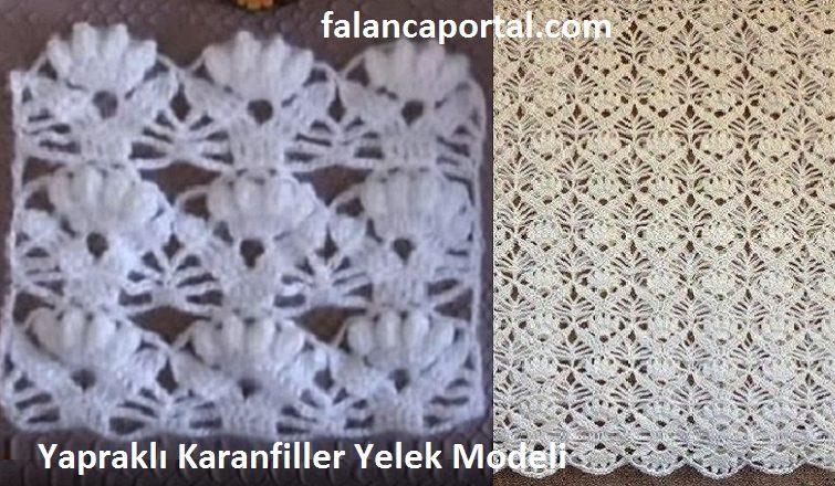 Yaprakli Karanfiller Yelek Modeli 1