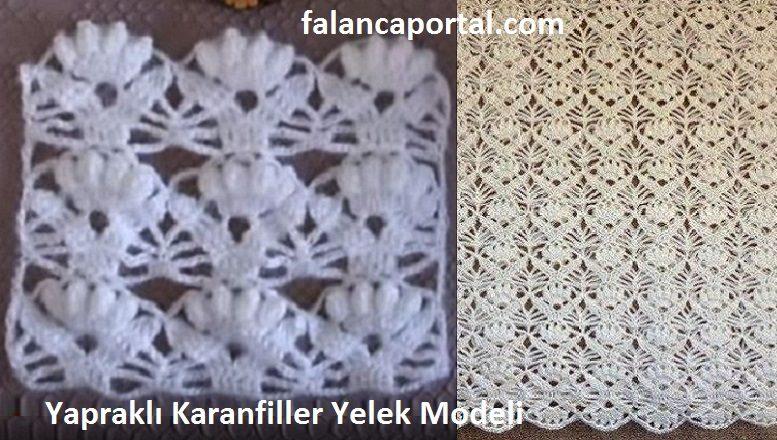 Yapraklı Karanfiller Yelek Modeli