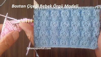Bostan Çiçeği Bebek Örgü Modeli