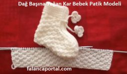Dağ Başına Yağan Kar Bebek Patik Modeli 1
