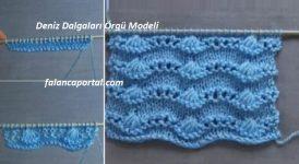 Deniz Dalgaları Örgü Modeli 1