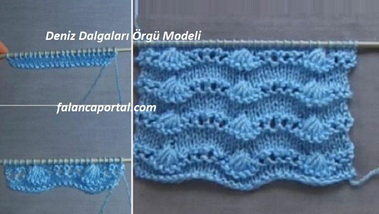 Deniz Dalgaları Örgü Modeli