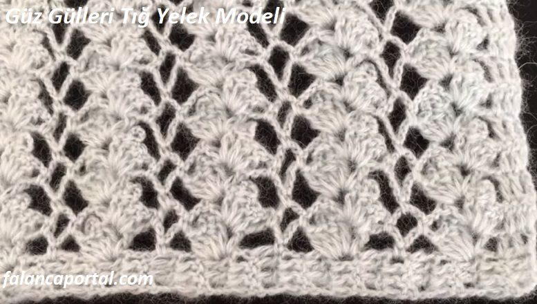 Güz Gülleri Tığ Yelek Modeli