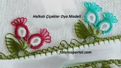 Halkalı Çiçekler Oya Modeli