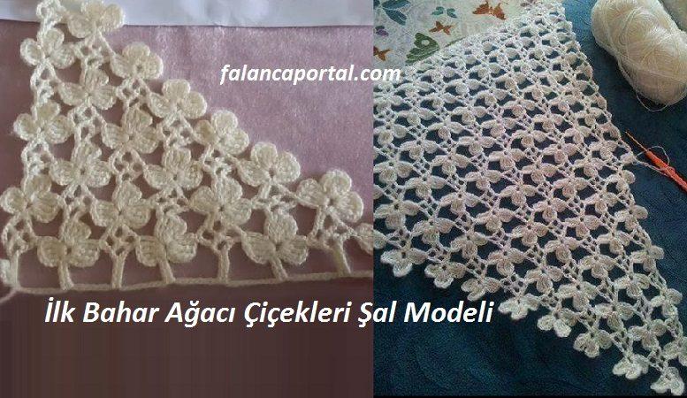 İlk Bahar Ağacı Çiçekleri Şal Modeli