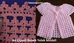 Kır Çiçekli Bebek Yelek Modeli 1
