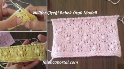 Nilüfer Çiçeği Bebek Örgü Modeli