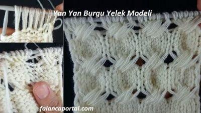 Yan Yan Burgu Yelek Modeli