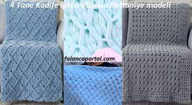 4 Tane Kadife İpten Videolu Battaniye modeli 1