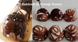 5 Dakikada İp Yumağı Pastası 1