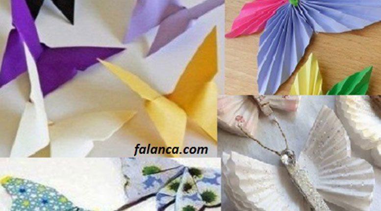 Origami Kağıt Katlama ile Dekoratif Kelebekler Yapımı