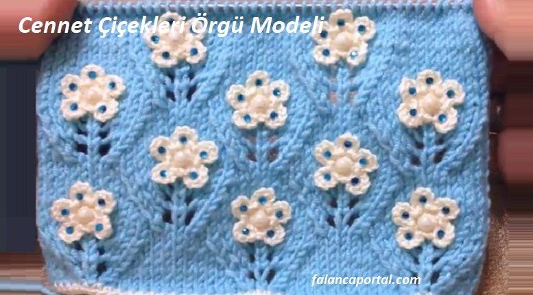 Cennet Çiçekleri Örgü Modeli