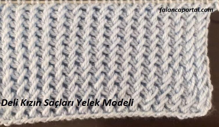 Deli Kizin Saclari Yelek Modeli 1