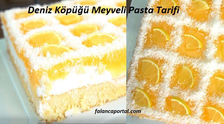 Deniz Köpüğü Meyveli Pasta Tarifi