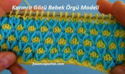 Karinca Gozu Bebek Orgu Modeli 1